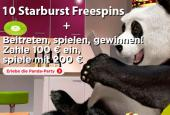 10 Starburst free spins bei Royal Panda Casino
